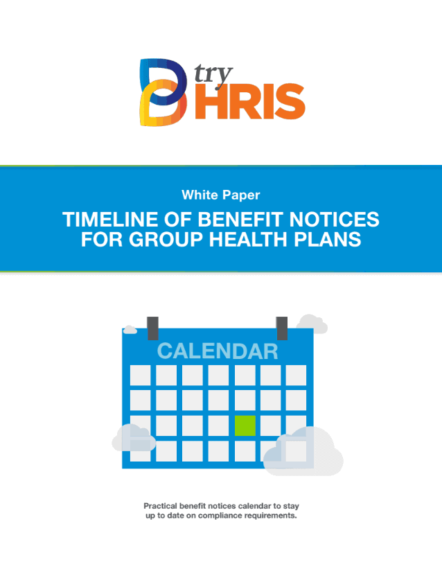 White Paper: Timeline of Benefit Notices